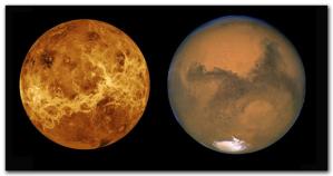 Venus y Marte||Astronomía 2009